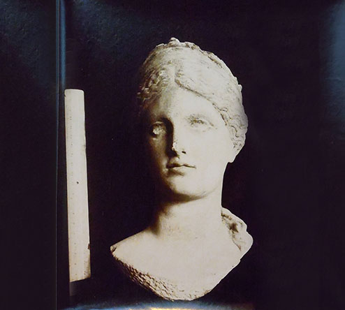Roman bust of a woman identified as the goddess Demeter, Tunis, Musée du Bardo, early twentieth century photograph